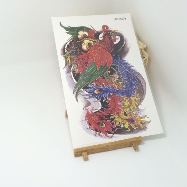 Восточные традиционные феникс красота   макияж 3d водонепроницаемый временные татуировки наклейки