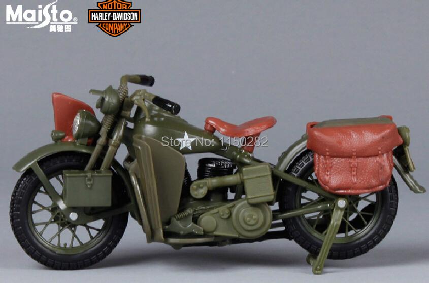 maisto harley davidson 1942 wla flat head plastic alloy vintage motorcycle model toys. Black Bedroom Furniture Sets. Home Design Ideas
