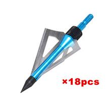 (18pcs/lot) Hunting arrow head broadheads 3-blades archery arrow head point 100 grain universal compound or crossbow(China (Mainland))