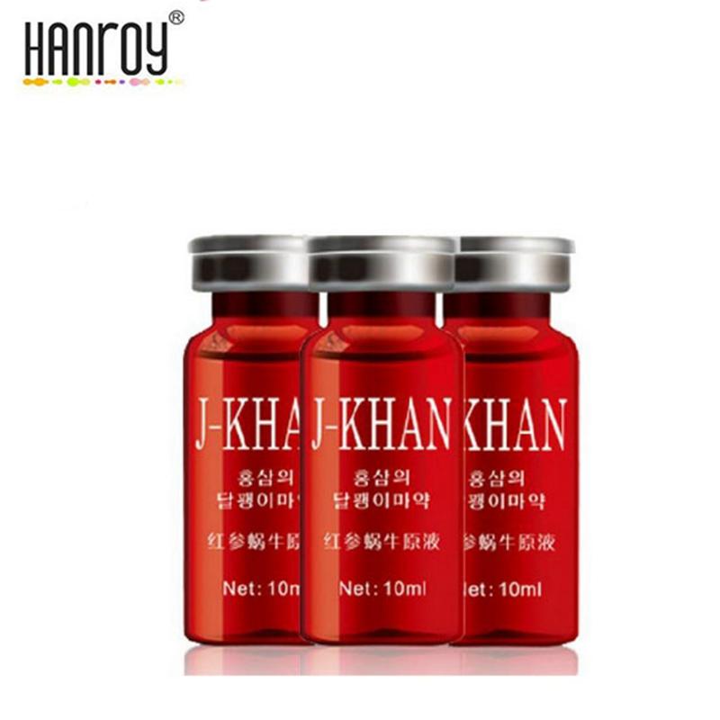 HANROY Korea Red Ginseng Snail Essence Hyaluronic Acid Remove Acne Anti Aging Anti Wrinkle Firming Ageless Whitening Cream 3pcs(China (Mainland))