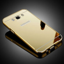 Samsung Galaxy 2016 J5 J3 J7 J1 Mirror Aluminum Case J2 2015 Gold + Acrylic Phone Cases Cover - Hots store