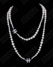 Wholesale/Retail 8-12MM Akoya white freshwater shell pearl  necklace shipping free(China (Mainland))