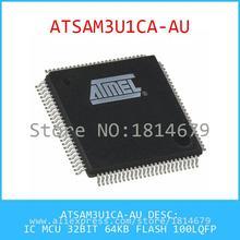 Electronics ATSAM3U1CA-AU IC MCU 32BIT 64KB FLASH 100LQFP 1pcs