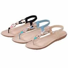 Women Sandals Summer Style Ladies Shoes Women Open Toe Beach Flip Flops Beading Gladiator Sandals Women Shoes Ladies Sandals(China (Mainland))