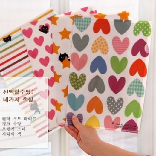 1pcs/lot 31*22cm Novelty cute PVC file bags designer file folder presentation folders kawaii stationery(China (Mainland))