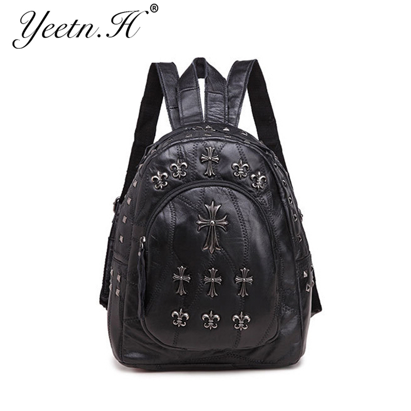 2016 New Arrival Woman Bag Street Fashion Leather Backpack School Bags For Teenage Girls Woman Bag Street Fashion A1415(China (Mainland))