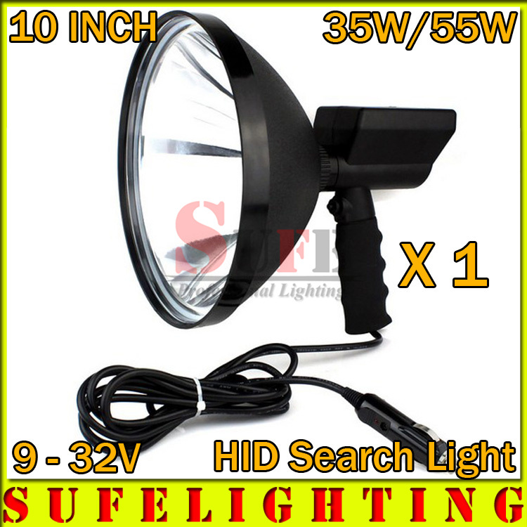 1PCS 10 35W 55W HID SEARCH  Light Offroad working Outdoor Boat Hunting Xenon Handheld Spot Light Repalce LED Search Light