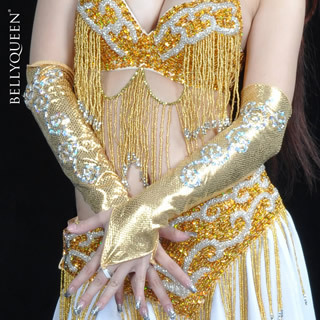 Belly dance clothes clothing indian dance beaded accessories jewelry arm sleeve oversleeps serpentine pattern ring gloves