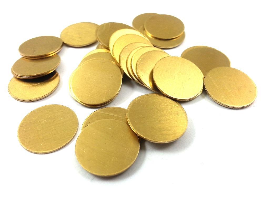 Brass Round Circle Stamping Blank Tags for Metal Punching 16mm Diameter
