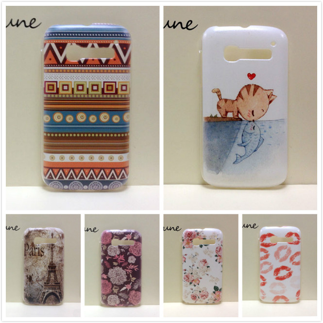 2014 New Painting Hard PC Plastic Phone Case For Alcatel One Touch Pop C5 5036 OT5036 5036D +Screen protector(China (Mainland))