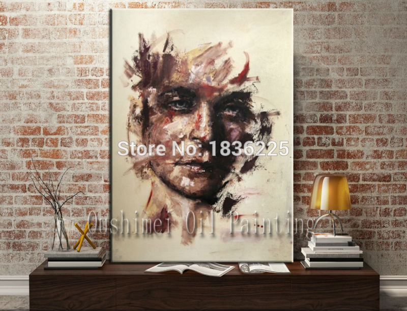 man face painting canvas large size famous painter modern paintings with a knife snazaroo face paint designer home decor(China (Mainland))
