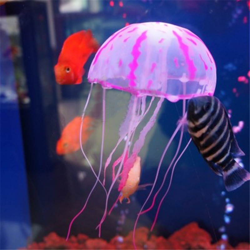 5.5 Inch Aquarium Decorative Glowing Simulation Artificial Jellyfish Glowing Fish Tank Landscape Decoration Harmless To All Fish