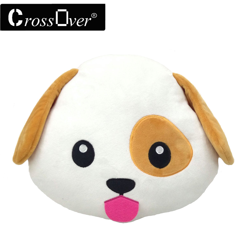 New Emoji Smiley Emoticon Cushion Pillow Stuffed Plush Toy Doll Dog Emoji Face Bed Pillow Home Living Room Decoration Pillows(China (Mainland))
