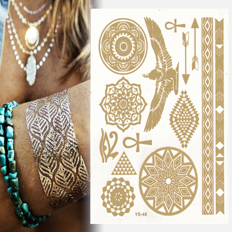 1pcs [799 designs] High Quality flash tattoo sticker henna tattoo flash temporary tatoo summer style gold tatto Promotion cheap!(China (Mainland))