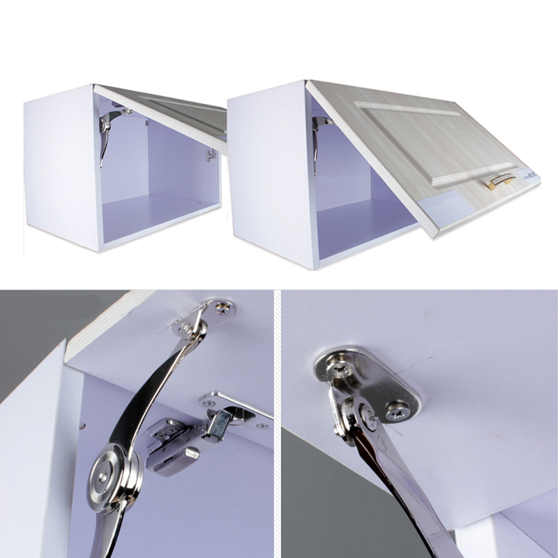 New Hot Cabinet Cupboard Door Hinges Furniture Lift up Strut Lid Flap Stay Support Hinge FEN#(China (Mainland))