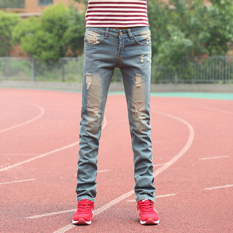 mens tapered jeans Hot Mens Designer Famous Brand Newly Style Plus Size Bottom Skinny Jeans Man Perfume 212 mens ripped denim(China (Mainland))