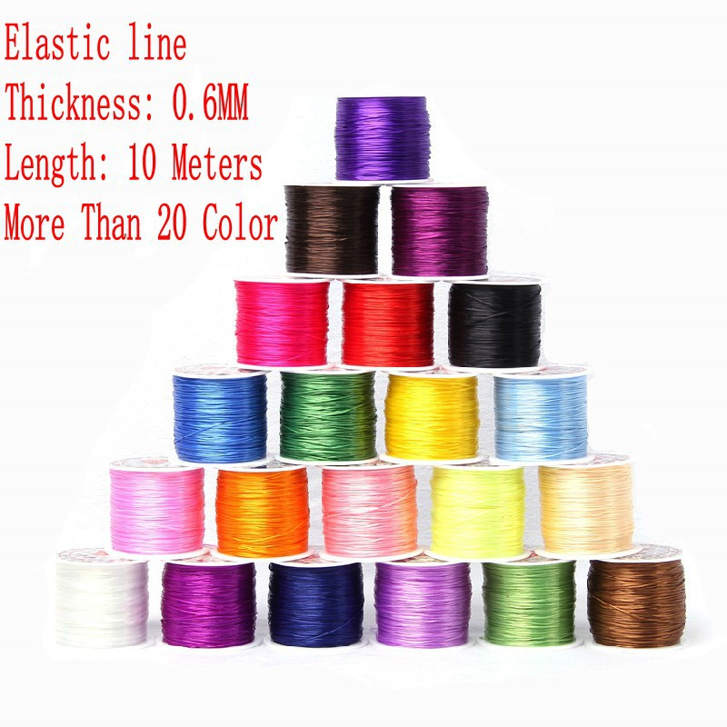 1 pcs Elastic Rope Crystal line Stretching Beading Stretch Cord Elastic Fiber Wire Jewelry Accessories Total 10m Free Shipping<br><br>Aliexpress