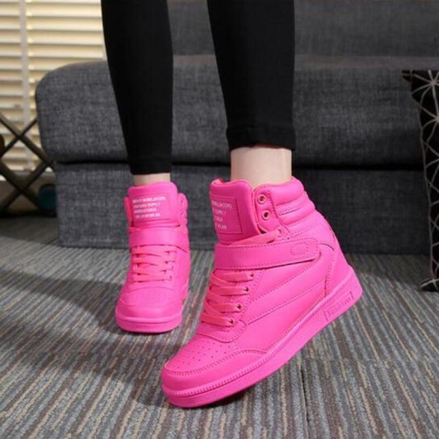 2015 весна осень ботильоны каблуки обуви женщины повседневная обувь высота увеличение ...