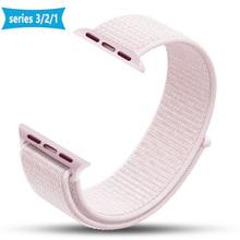 Новый Высокое качество нейлон спортивная петля Replacment ремешок для Apple Watch Series 1 2 3 Легкий мягкий дышащий тканый ремешок 38 42 мм(China)