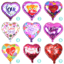 50PCS/lot 18inch I LOVE YOU Balloon Valentine day Wedding Decorations Party Supplies Heart Shape Love Foil Balloons B242(China (Mainland))