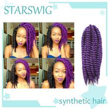 Afro Kinky Braid Hair Havana Mambo Twist Crochet Braid Hair 12 90g pack purple color Synthetic