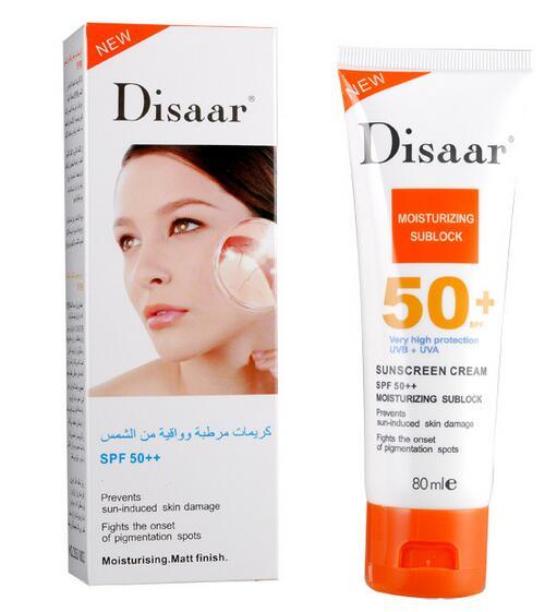 Disaar crema de protección solar SPF 50 + + skin protect protector solar hidratante 80g cuidado de la cara evita daños en la piel, quitar manchas pigmention(China (Mainland))