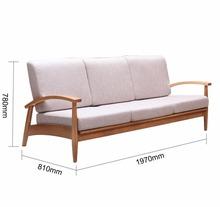 ZERUN Handcrafted Solid Oak Sofa 3 Seat,Contempary And Natural Sofa(China (Mainland))