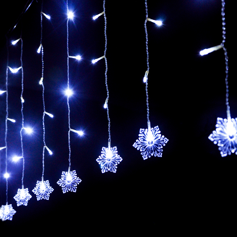 Aliexpress.com : Buy 220V 2*0.6M 60 LEDs Snowflake LED Curtain Lights for Xmas Tree Garden Home ...