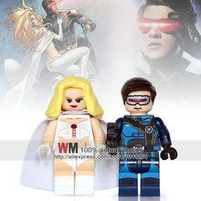 2 pçs/lote Liga Da Justiça Super Herói Robin Poison Ivy Batman Harley Quinn Blocos Tijolos Crianças Brinquedos Presentes Drop Shipping(China)