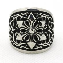 Mens Boy 316L Stainless Steel Cool Punk Gothic Cool  Snowflake Vintage  Newest Ring