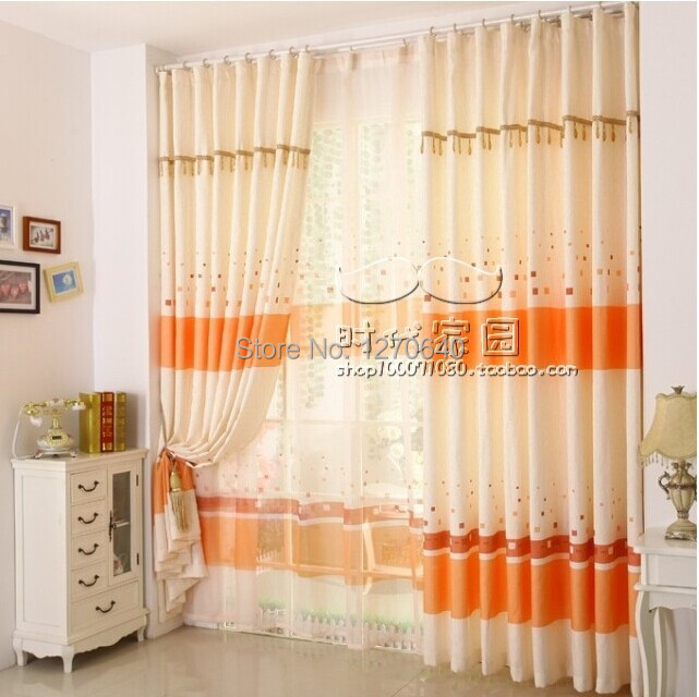 fashion home goods linen fabric 1 lot blackout curtains with