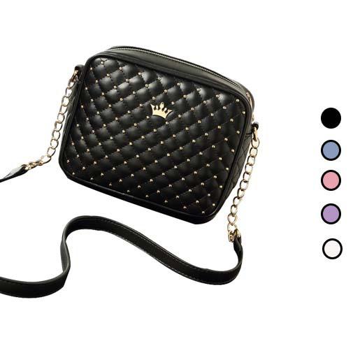 2015 Fashion Women Messenger Bags Rivet Mini Chain Shoulder Bag High Quality Soft Pu Leather Crossbody Bag Women Free Shipping(China (Mainland))