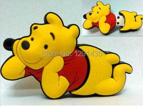 Popular Cartoon bear model USB 2.0 Memory Stick Flash pen Drive 2GB 4GB 8GB 16GB 32GB 64GB 128GB USB FLASH DRIVE(China (Mainland))