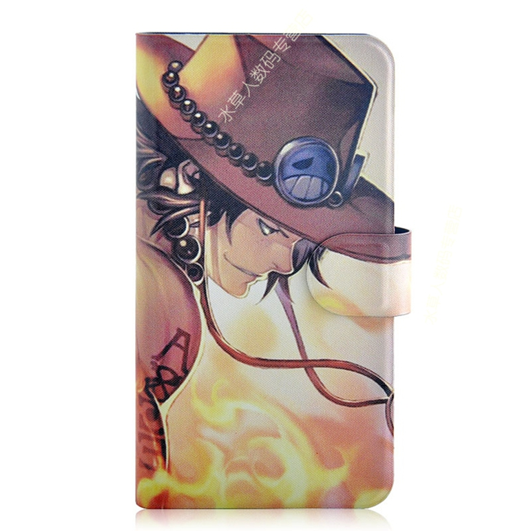 Newest Animation One piece Character PU Leather Magnetic Flip Case Cover for OPPO U707T U2S Ulike 2S(China (Mainland))