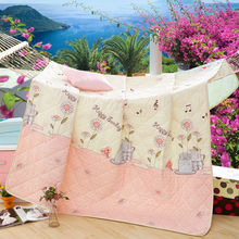musical notes flowers print cartoon quilting air-condition comforter twin/single/queen/full/double size polyester summer quilt(China (Mainland))