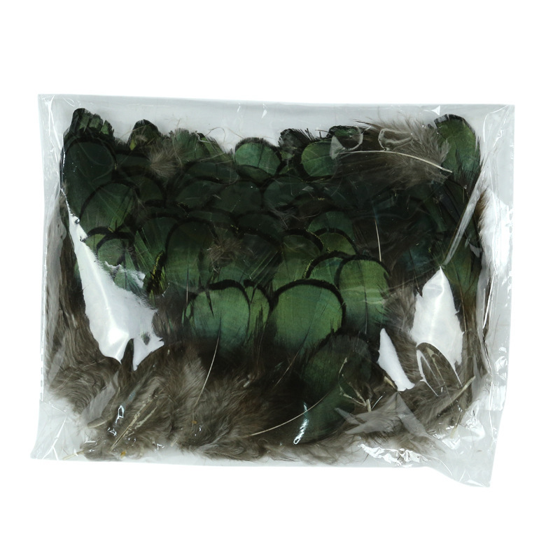 Retail 100 pcs/lot DIY peafowl natural Peacock green feathers /jewelry hair wedding dress accessories Peacock feathers(China (Mainland))
