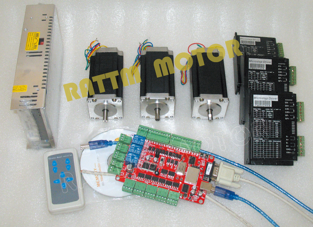 Usa Delivery 3 Axis Cnc Kit Nema 23 Stepper Motor Dual