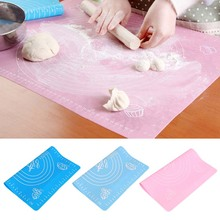 Buy 29*26cm Silicone baking mat Kneading dough mat Non-stick Silicone baking rolling pastry mat Cake Tool Sugarcraft table pad Y1S1 for $2.43 in AliExpress store