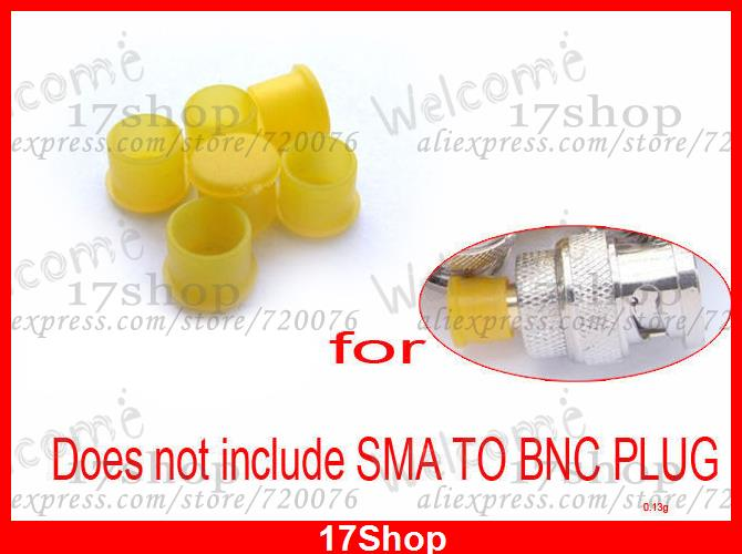 50 PCS Yellow Plastic covers Dust cap Hat for RF SMA female connector(China (Mainland))