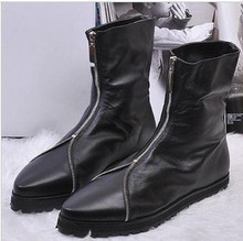 2015 New Arrival fashion boots male PU leather boots male cowhide personality Riding men's Ankle Boots  Free shipping(China (Mainland))