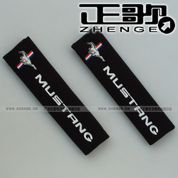 Mustang car logo safety belt cover