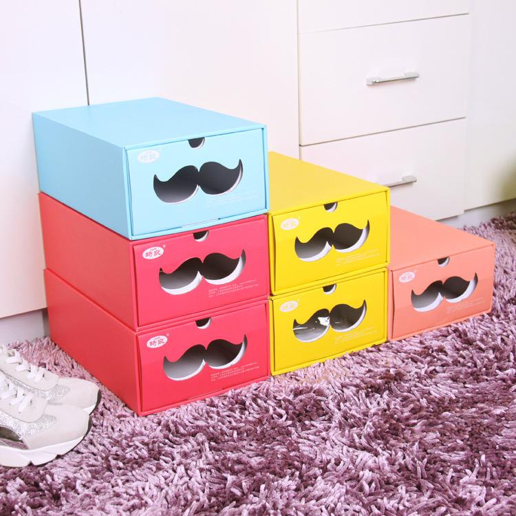 Large diy beard shoes storage box environmental box for Diy shoe storage with cardboard