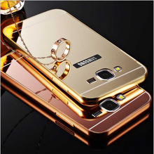Samsung Galaxy J1 J2 J3 J5 J7 2016 A3 A5 A7 Grand Prime S7 Edge S6 S5 Case Mirror Aluminum Metal Frame Phone Back Cover 2017 - Good Friend store