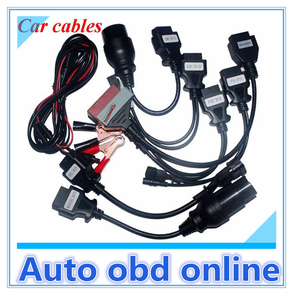 OBD/OBD2 CDP Car Cables tcs diagnostic tool Full set cables - Auto obd online-josan wang store