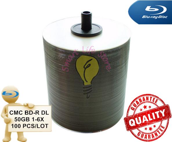 CMC BD-R 50GB DL 1-6X - 100 PCS/Lot - White Inkjet Printable / blu ray disc / bluray disc / blue ray / blu-ray / bd 50gb(China (Mainland))