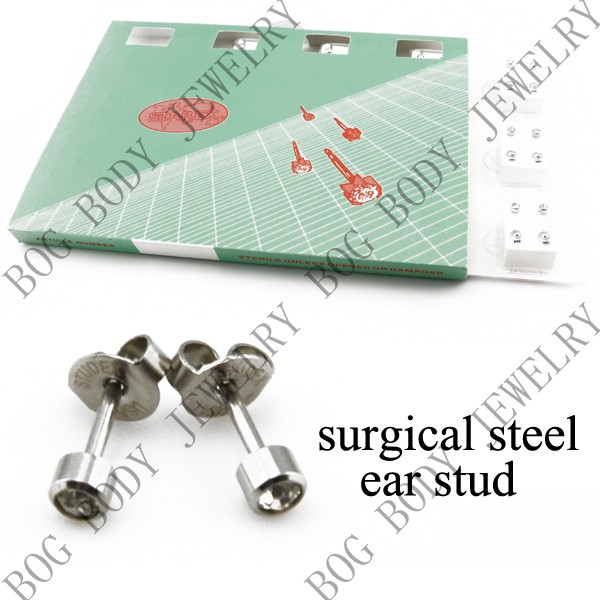 Lot 12Pairs Gift Packing -Surgical Steel 4mm/3mm Birthstone Stainless Steel Crystal Ear Piercing Studex Earring Stud Jewelry<br><br>Aliexpress