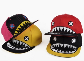 New Hat Popular Baseball Caps Hip-hop Cap Flat Along The Hat Fashion The Shark Hat 1 Piece Free Shipping