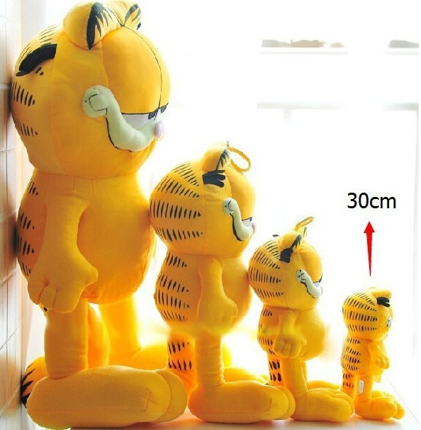 Free Shipping 1pcs 30cm=11.8'' Plush Garfield Cat Plush Stuffed Toy High Quality Soft Plush Figure Doll(China (Mainland))
