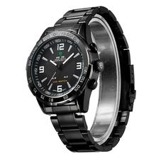 Weide WH1009 relojes hombres de lujo LED Digital cuarzo reloj militar del relogio masculino completa de acero inoxidable hombres reloj deportivo