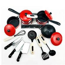 1 Set Kids Children Role Play Cooking Kitchen Utensil Cooker Playset Toys(China (Mainland))
